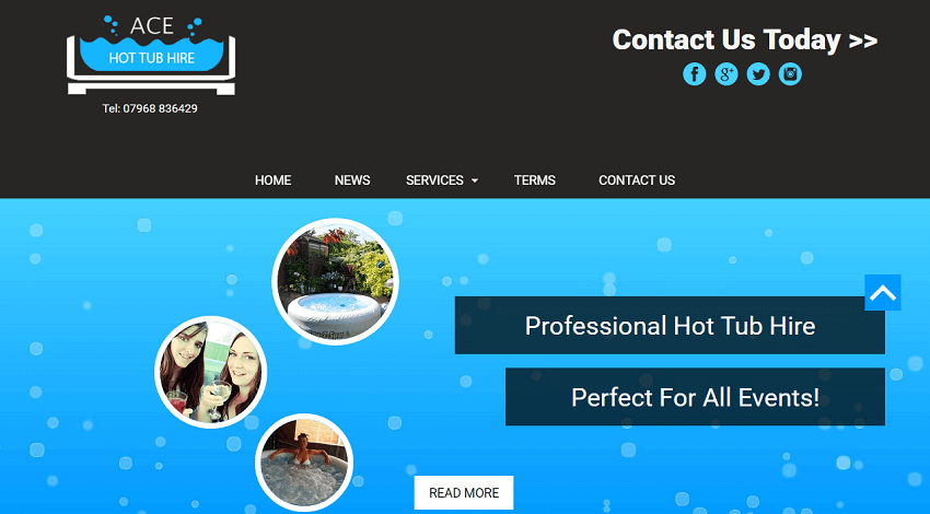 Ace Hot Tub Website